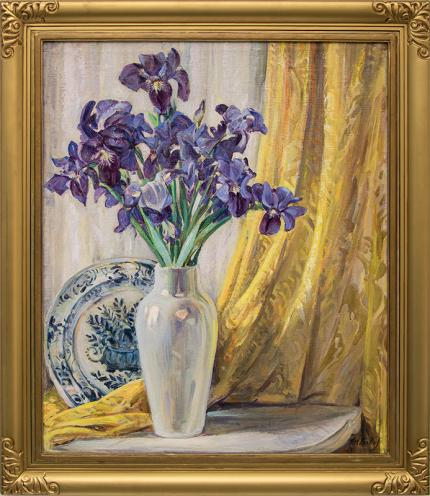 """Joseph Imhof, """"Untitled (Still Life with Iris)"""", oil painting fine art for sale purchase buy sell auction consign denver colorado art gallery museum"""