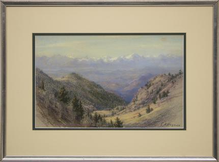 "Elsie Haddon Haynes, ""Sangre de Cristos (Colorado)"", pastel, circa 1930-1950 for sale purchase consign auction denver Colorado art gallery museum"