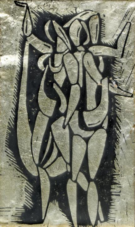 """Edgar Britton woodblock print """"the dancer"""" painting fine art for sale purchase buy sell auction consign denver colorado art gallery museum"""