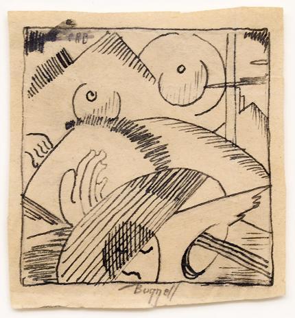 Charles Ragland Bunnell art for sale, abstract painting, 1930s, wpa era, broadmoor academy