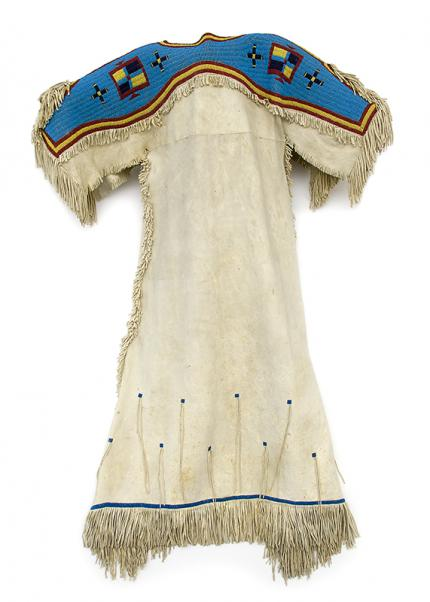 Sioux Dress antique beadwork circa 1880 19th century plains indian native american indian for sale