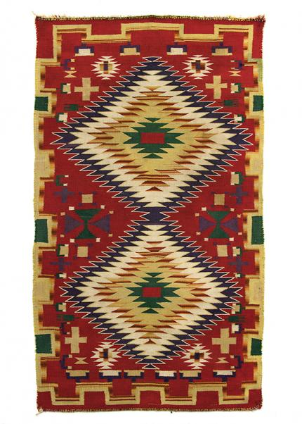 navajo rug germantown eye-dazzler 1890s  two diamond 19th century Native American Indian antique vintage art for sale purchase auction consign denver colorado art gallery museum