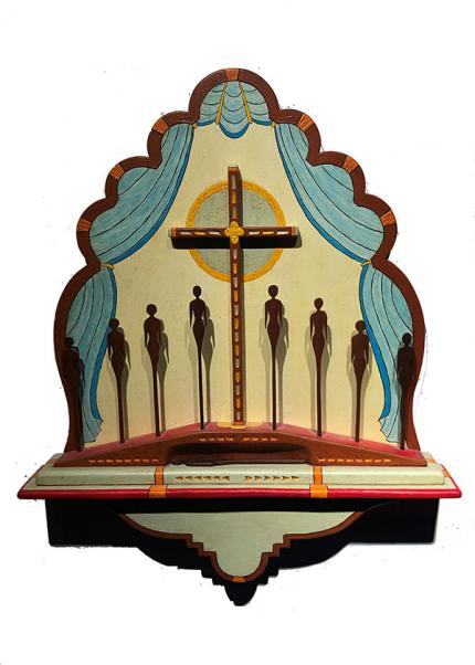 """Michael Blatnik """"Mark 15:40"""" 2018 santo bulto retablo hispanic devotional spanish colonial"""