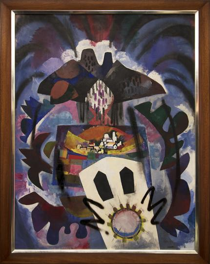 Keith Crown circa 1950 New Mexico Modernist oil painting fine art for sale purchase buy sell auction consign denver colorado art gallery museum