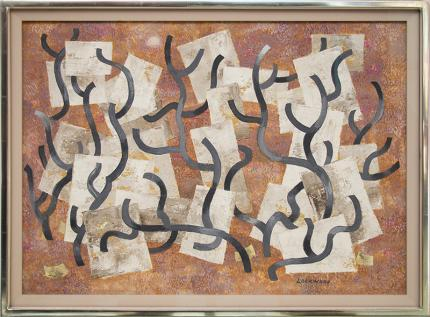 "Ward Lockwood, ""Growth"", mixed media, circa 1950 painting fine art for sale purchase buy sell auction consign denver colorado art gallery museum"