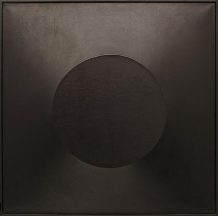 "Angelo Di Benedetto, ""Black #1"", mixed media, 1965 painting fine art for sale purchase buy sell auction consign denver colorado art gallery museum"