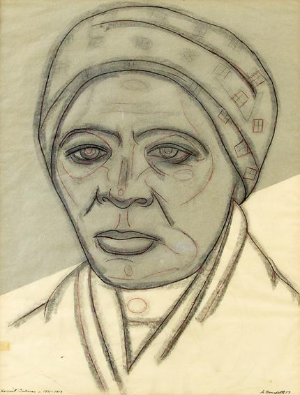 "Angelo Di Benedetto, ""Harriet Tubman c 1821-1913"", graphite, 1977"