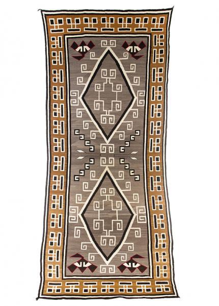 Vintage Navajo Trading Post Rug, Crystal ganado, circa 1910-1920 19th century Native American Indian antique vintage art for sale purchase auction consign denver colorado art gallery museum