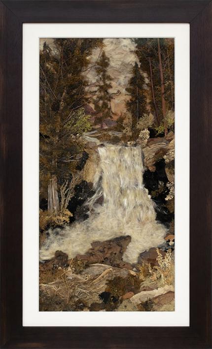 "Pansy Stockton, Sun painting assemblage ""Wolf Creek Falls, Colorado"", landscape, circa 1930, cornelia"