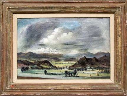 "Arnold Blanch vintage 1930s painting for sale, ""Colorado Landscape"", oil, circa 1935"