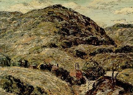 "Ernest Lawson, ""Untitled (Cripple Creek Mine)"", oil, 1924 broadmoor academy colorado"