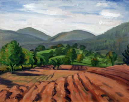 "Carl Eric Olaf Lindin, ""Untitled (Ojai, California)"", oil, c. 1923-4"