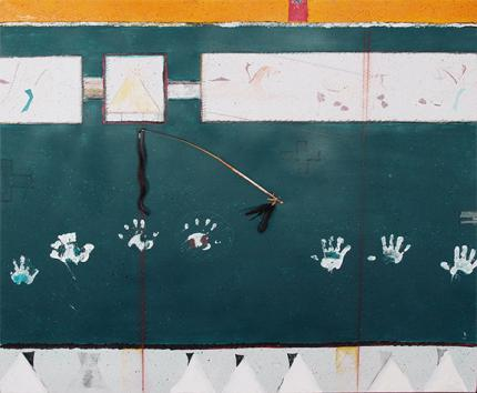 "Randy Lee White, ""Untitled"", mixed media, c. 1985 for sale purchase consign auction denver Colorado art gallery museum"