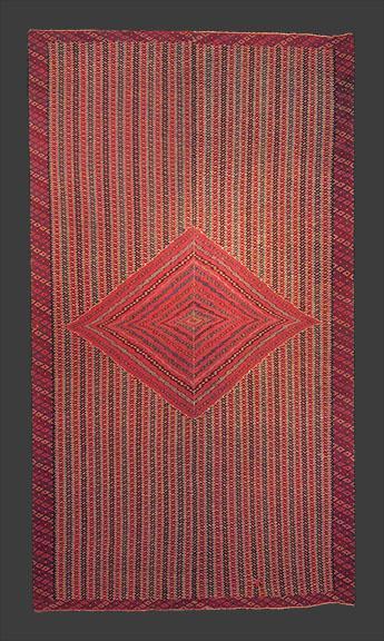 Saltillo Serape, Mexican, c. 1775-1800, 18th century, classic hispanic textile weaving
