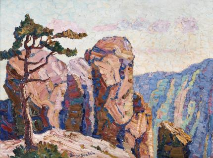 "Sven Birger Sandzen, ""Edge of the Range, Manitou, Colorado"", oil, 1919"