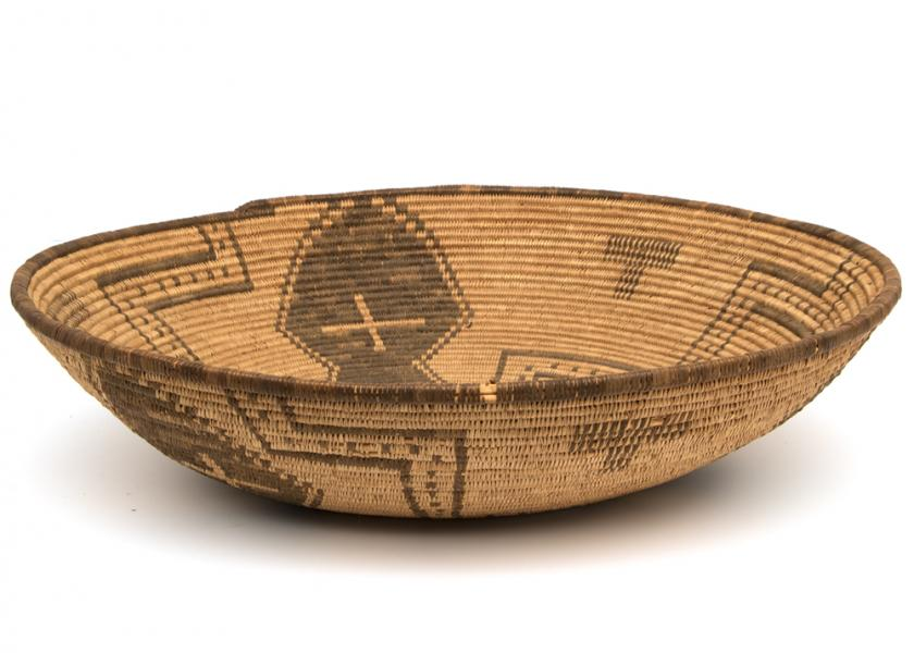 Antique Native American Basketry Bowl, Apache, 19th Century For Sale