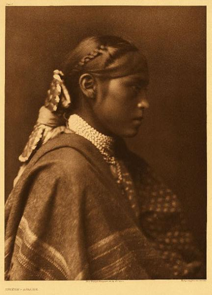 Edward S. Curtis, Sigesh Apache, photogravure, 1903 North American Indian Portfolio photography Vanishing Race  19th century Native American Indian antique vintage art for sale purchase auction consign denver colorado art gallery museum