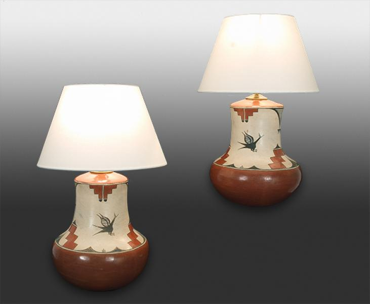 Lamp (Pair), Zia, mid 20th century