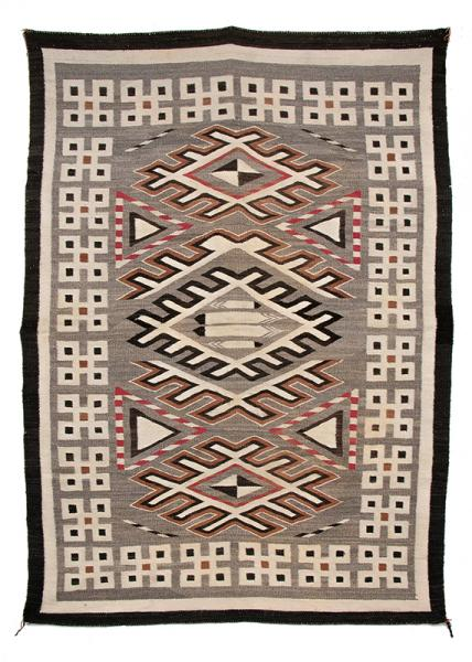 vintage Pan Reservation trading post navajo rug vintage native american indian art for sale, purchase, buy, sell auction museum denver colorado