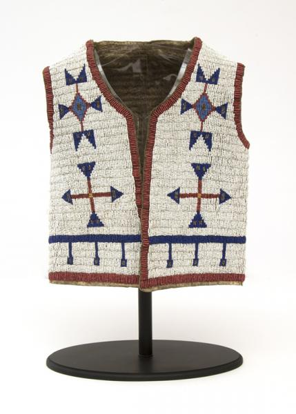 Plains Sioux indian beaded vest 19th century Native American Indian antique vintage art for sale purchase auction consign denver colorado art gallery museum