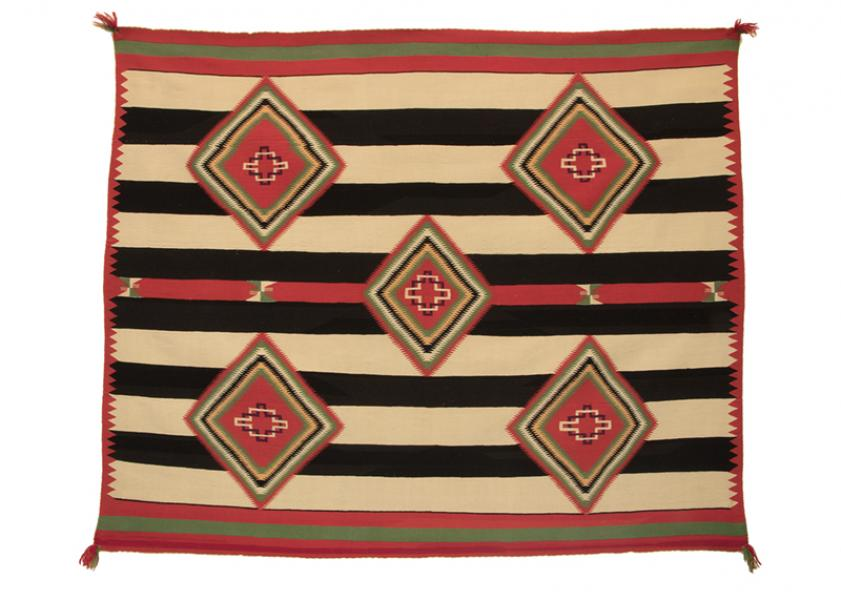Chief's Blanket, Navajo, circa 1890 germantown wool 19th century Native American Indian antique vintage art for sale purchase auction consign denver colorado art gallery museum