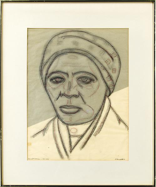 harriet tubman drawing original vintage angelo di benedetto