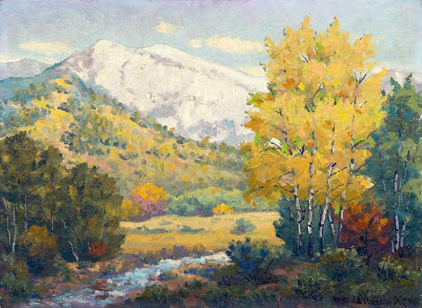harold vincent skene autumn landscape painting
