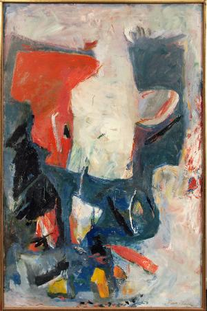 """Paul (Harry) Burlin, """"White Phantom"""", oil on canvas, 1961 painting for sale purchase consign auction denver Colorado art gallery museum"""