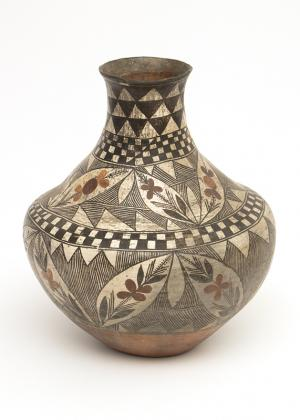 Southwestern Acoma Pueblo pottery Jar 19th century Native American Indian antique vintage art for sale purchase auction consign denver colorado art gallery museum