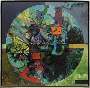 "Edward (Eduardo) Arcenio Chavez, ""Ocate (New Mexico)"", oil, 1958-1960 for sale purchase consign auction denver Colorado art gallery museum"