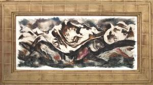 """Howard Norton Cook, """"Merino Valley"""", mixed media, circa  1950 painting fine art for sale purchase buy sell auction consign denver colorado art gallery museum"""