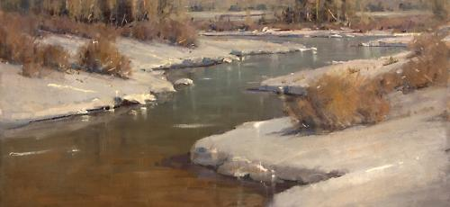 Rick Howell (1957-2012) (Afternoon Light, Colorado) oil painting, 35 ¾ x 47 ¾ inches