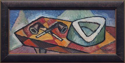 "Michel Patrix, ""Untitled"", oil, c. 1940 for sale purchase consign auction denver Colorado art gallery museum"