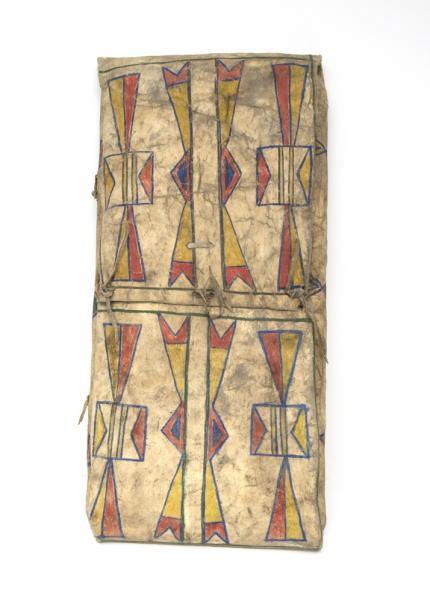 parfleche envelope, plateau montaine, 19th century Native American Indian antique vintage art for sale purchase auction consign denver colorado art gallery museum
